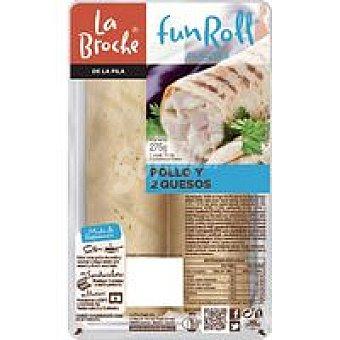 La Broche Funroll de pollo-2 quesos bandeja 275 g