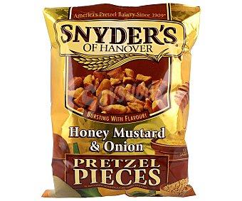 Snyder's Trozos de pretzel a la barbacoa con mostaza y miel 125 gramos
