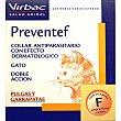 Collar antiparasitario con efecto dermatológico para pulgas y garrapatas para gatos 1 unidad VIRBAC PREVENTEF