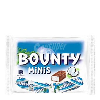 Bounty Barritas de chocolate minis con leche relleno de coco 170 Gramos