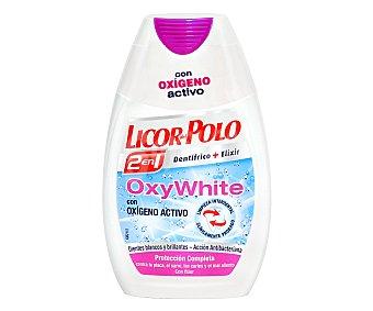 Licor del Polo Dentrífico en Gel 2 en 1 Oxy White 75ml