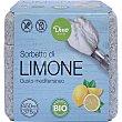 Sorbete de limón sabor del mediterráneo ecológico, sin gluten y sin lactosa tarrina 450 ml Dino