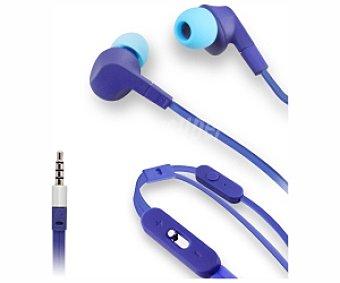 MUVIT MUHPH0058 Auricular Intrauditívo con microfono y botón, color azul