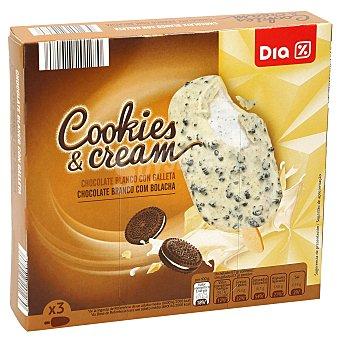 DIA Helado bombón chocolate blanco con galleta Caja 3 uds 201 gr