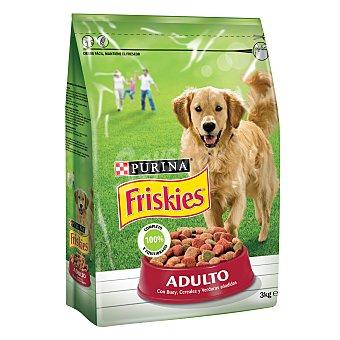 Friskies Purina Comida para perros Adulto con Cereales, Carnes y Verduras 3 kg