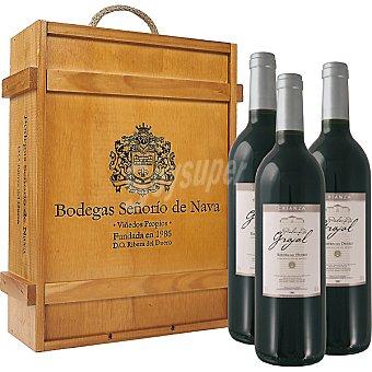 PALACIO DE GRAJAL Vino tinto crianza D.O. Ribera del Duero Estuche 3 botellas 75 cl