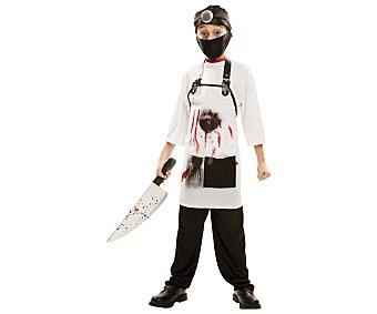 My other me Disfraz infantil Doctor Killers, incluye gorro, mascarilla, camiseta y delantal, talla 7-9 años ME.