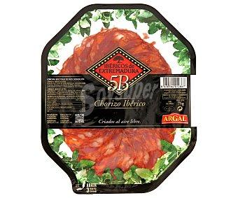 Argal Chorizo ibérico de Extremadura en lonchas estirpe negra 100 gr