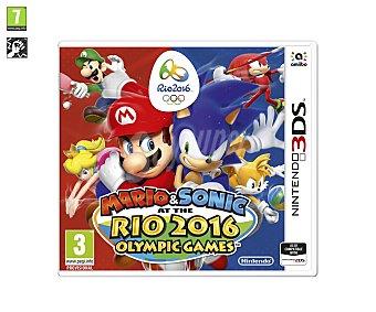Deportes Videojuego Mario y Sonic en los Juegos Olímpicos de Río 2016 para Nintendo 3 Ds. Género: deportes. Recomendación por edad PEGI: +7 3 Ds. Género: deportes. PEGI: +7.