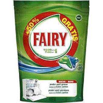 Fairy Lavavajillas máquina Todo en Uno 40+20 dosis