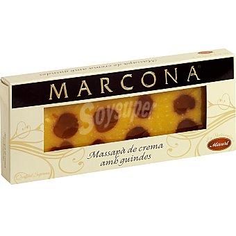 Marcona Turrón de mazapán de yema con guindas Tableta 300 g