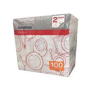 Carrefour Home Servilletas 2 capas de Celulosa 33x12cm - Decorado 100 ud
