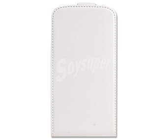 Auchan Funda con tapa para Samsung Galaxy S4 blanca