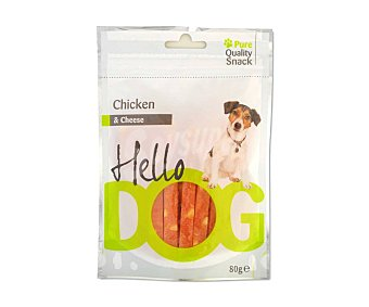 Hello dog Barritas a base de pollo y queso para perros 80 gr