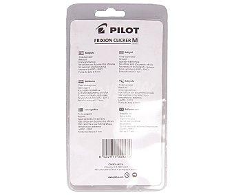 PILOT FRIXION CLICKER Bolígrafo negro borrable retráctil + 3 recambios pilot frixion clicker 1u