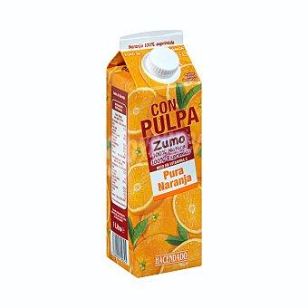 Hacendado Zumo naranja 100% exprimida con pulpa Brick 1 l