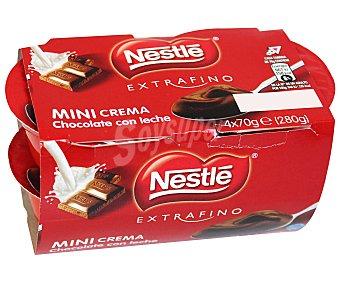 Nestlé Crema de chocolate con leche 4 unidades de 70 g