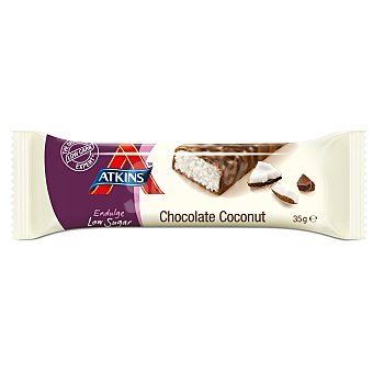 ATKINS ADVANTAGE Barrita Snacks de coco y chocolate Envase 35 g