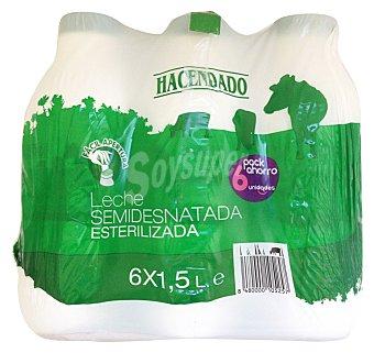 Hacendado Leche semidesnatada esterilizada Botella pack 6 x 1,5 l - 9 l