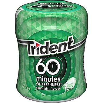 Trident Chicles hierbabuena 60 minutes Bote 80 g