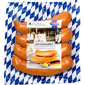 Wolf Salchichas bockwurst cocidas y ahumadas 4 unid envase 400 g envase 400 g