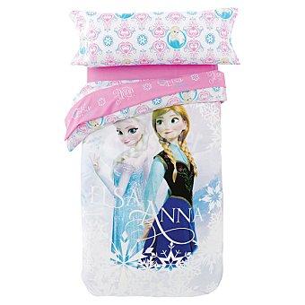 Disney Juego de sábanas de Frozen en tonos malvas para cama 90 cm