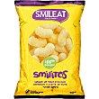 Smilitos gusanitos ecológicos de maiz con aceite de oliva virgen extra sin gluten  bolsa 38 g Smileat