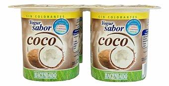 Hacendado Yogur coco Pack 4 x 125 g - 500 g
