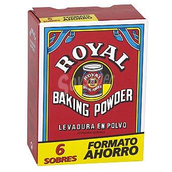 Royal Levadura en polvo caja 6 sobres de 16 gr