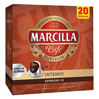 Marcilla Café con intensidad 10 en cápsulas Caja de 20 uds