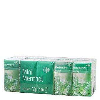 Carrefour Pañuelo de bolsillo mentol 10 ud