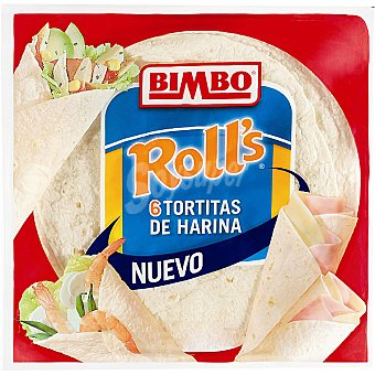 Bimbo Tortitas de harina Roll's 6 tortitas x 40 g