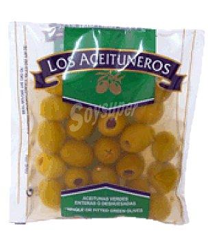 Los Aceituneros Aceitunas verdes con hueso bolsa 100 g