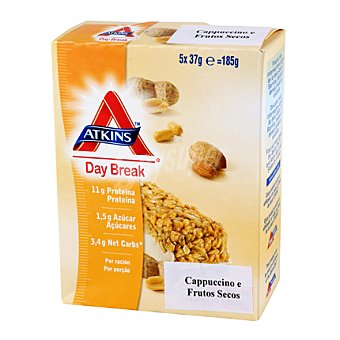 Atkins Barritas capucchino y nueces Pack de 5x37 g