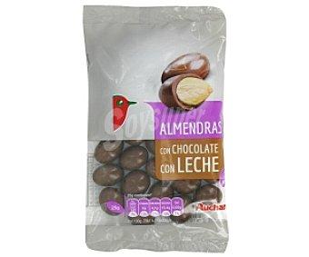 Auchan Grageados de almendra chocolate con leche 150 Gramos