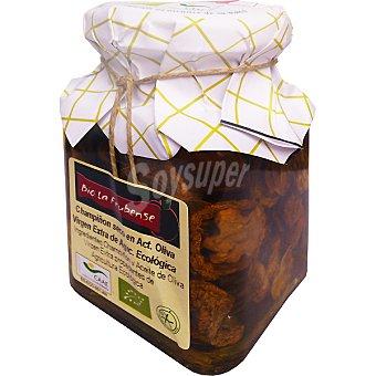 BIO LA FRUBENSE Champiñón seco en aceite de oliva virgen extra de agricultura ecológica Tarro 150 g