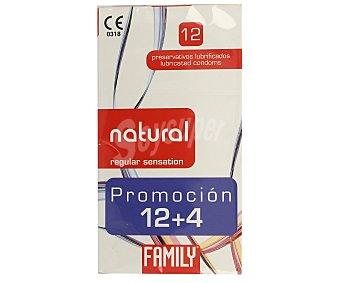 Family Preservativos lubricados sensación natural 12 uds