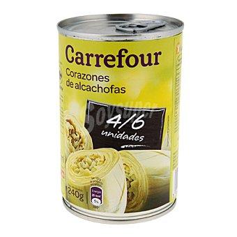 Carrefour Corazones de alcachofas 4/6 piezas 240 g