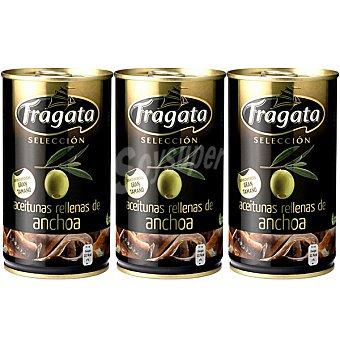 Fragata Aceitunas rellenas de anchoa pack 3 lata 150 g neto escurrido Pack 3 lata 150 g