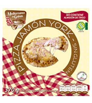 Mediterranea de Guisos Pizza jamón y queso sin gluten 370 g