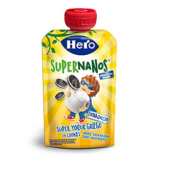 Hero Supernanos super yogurt griego con cookies pouch  100 gr