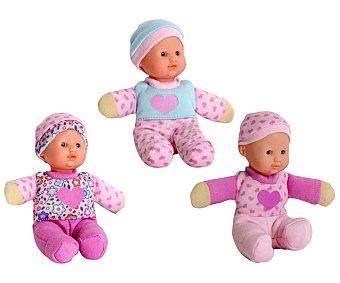 Rik&Rok Auchan Muñeco Bebé Suave de 15Cm 1 Unidad