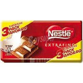 Chocolates Nestlé Chocolate Nestlé Extrafino Leche 3 unidades de 150 g