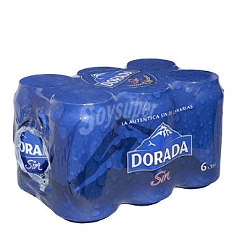 Dorada Cerveza sin alcohol Pack 6x33 cl