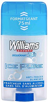Williams Desodorante Stick para Hombre Ice Pure 75 Mililitros
