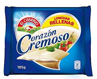EL CASERIO Corazón Cremoso queso fundido relleno 5 lonchas  envase 185 g