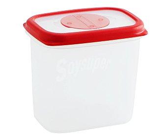 QUID Recipiente hermético rectángular de plástico con tapa modelo Frigo box, 0,90 litros, 14,9x5x13 centímetros 0,9 L