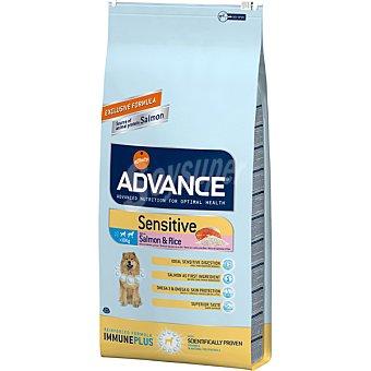 ADVANCE Sensitive alimento de alta gama para perros adultos de todas las razas rico en salmon bolsa 12 kg Bolsa 12 kg