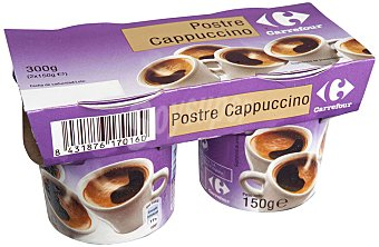 Carrefour Postre Cappuccino Pack 2x150 g