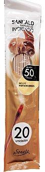 SONATA Incienso varitas aroma sándalo (Incluye portaincienso) Paquete de 20 uds